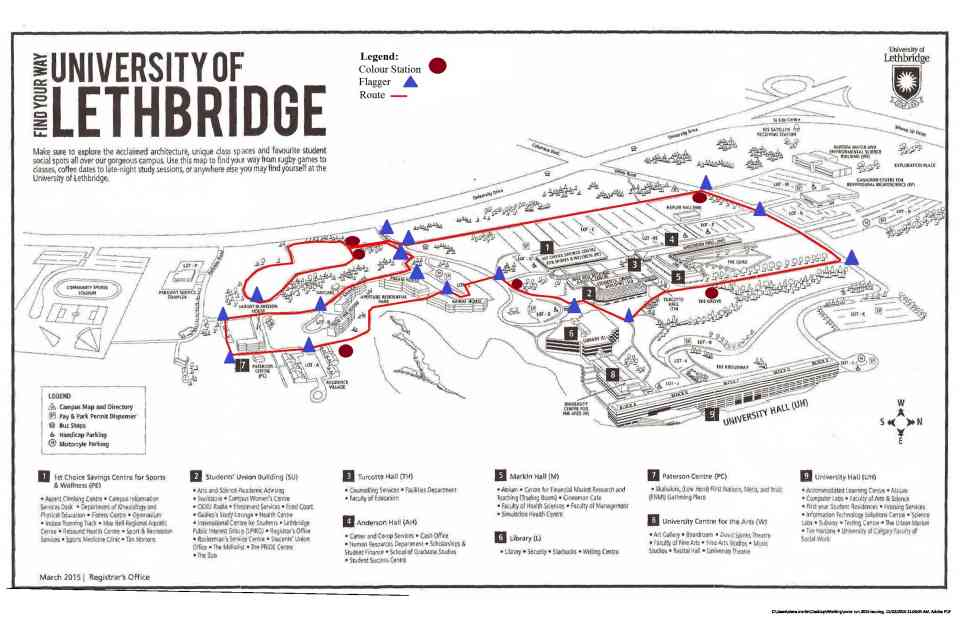 Lethbridge College Map Cus Maps Of