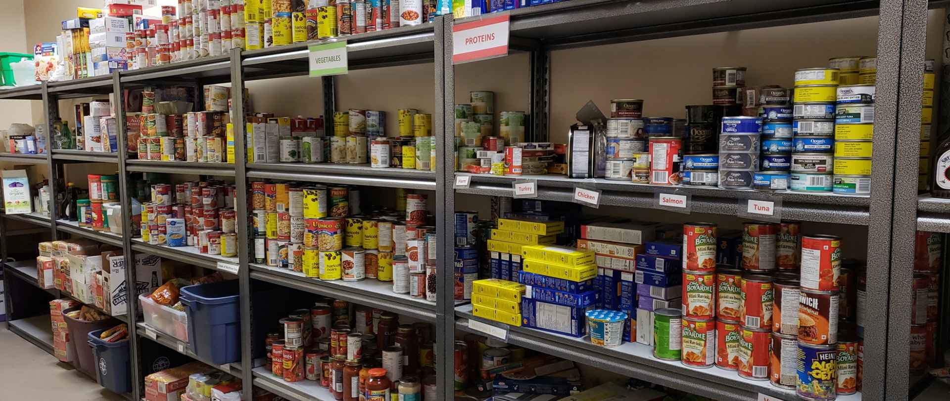 ULSU Food Bank Shelves