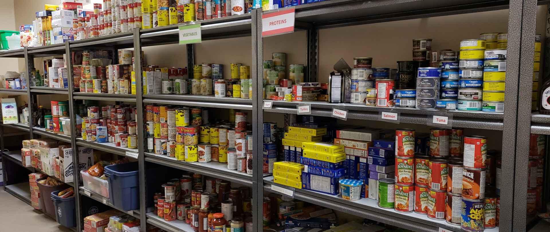 ULSU Food Bank Shelves